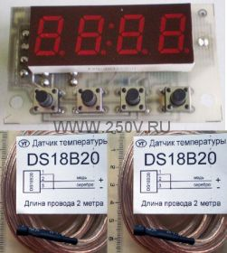 Два термометра с часами Ч2Т-0.4