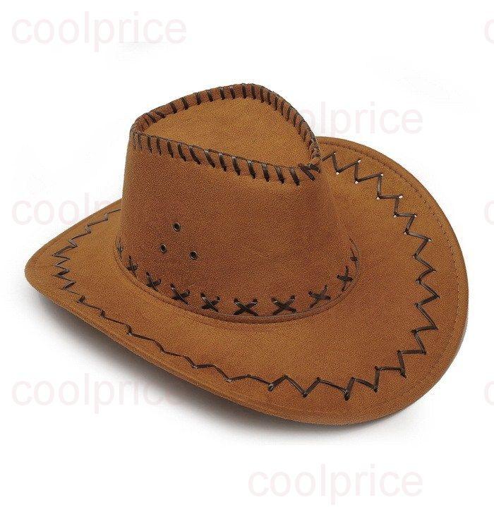 Ковбойская шляпа, коричневая