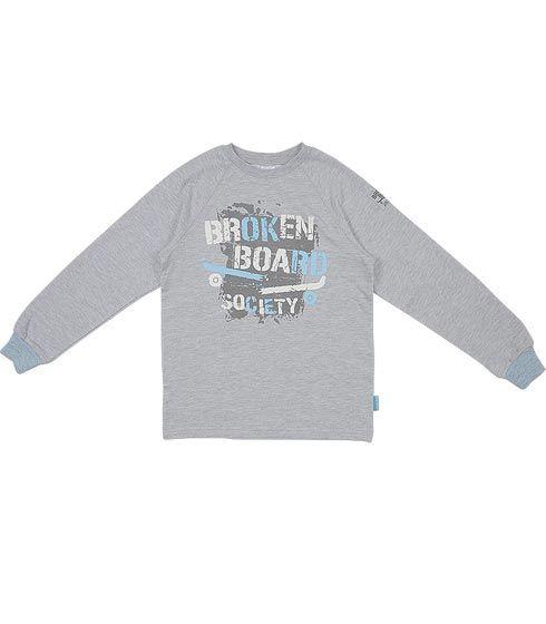 Серый джемпер для мальчика Broken