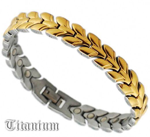 Женский титановый браслет с магнитами