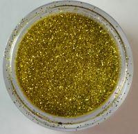 Блёстки (глиттер) светло-золотые  в банке, 5 гр