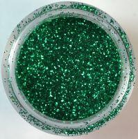 Блёстки (глиттер) зелёные в банке, 3,5 гр