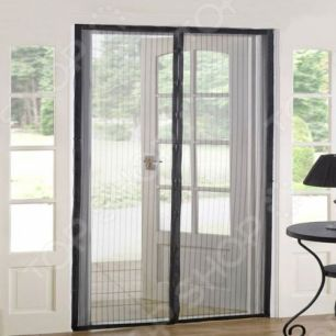 Москитная сетка на дверь на магнитах magic mesh маджик меш черная, белая.