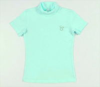 Бирюзовая блузка для девочки