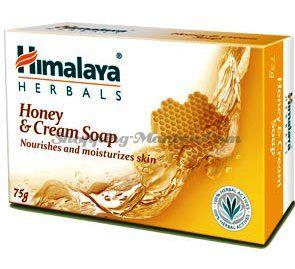 Питательное мыло для лица и тела Крем&Мед Хималая / Himalaya Nourishing Cream&Honey Soap