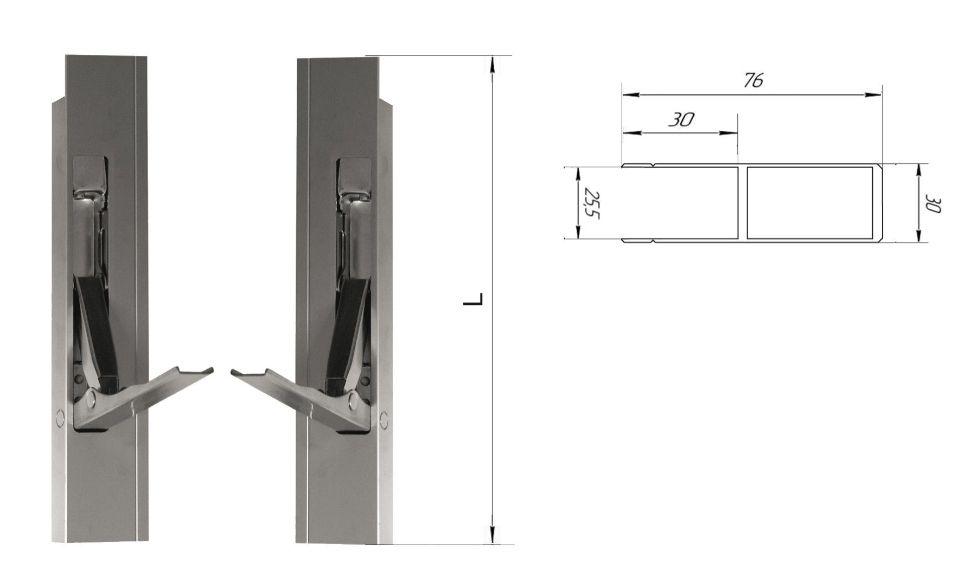 Стойка алюминиевая 400 мм (Арт: 30401)