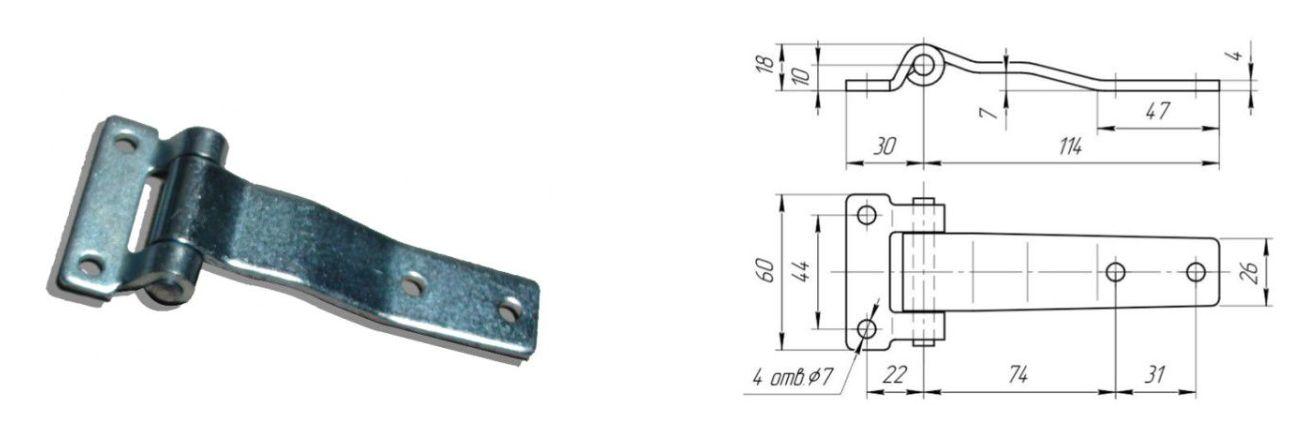 Петля 115 мм Zn (Арт: 41218)