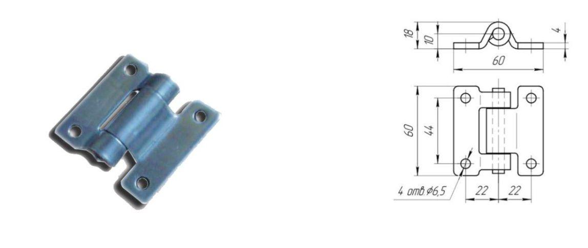 Петля 30 мм Zn (Арт: 41231)