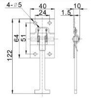 Фиксатор ворот Т-образный (Арт: 151092)