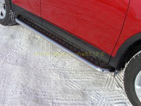 Пороги с площадкой  60.3 мм (TOYRAV 13-05) для Toyota Rav 4 2013 -