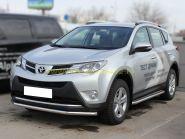 Пороги с площадкой  53 мм (TRN 13-2) для Toyota Rav 4 2013 -