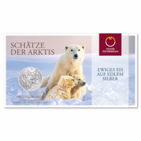 Очаровательная Арктика  5 евро Австрия  2014 BU серебро