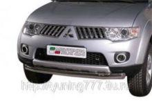 Защита переднего бампера Misutonida, нерж. сталь ф 76мм., для D.Cab с 2010-