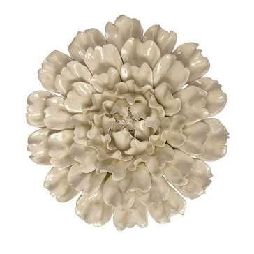 Керамическое настенное украшение Cream Peony