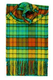 кашемировый шарф 100% драгоценный кашемир , расцветка  клан Бьюкенен (Яркий Вариант) Buchanan Bright, плотность 7
