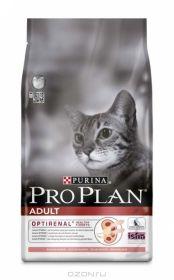 PRO PLAN ADULT сухой 10кг для кошек Лосось c Рисом