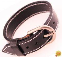 Кожаный браслет в виде ремня