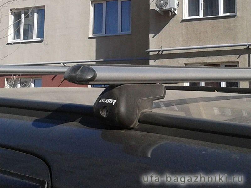 Багажник на крышу Opel Zafira B/Family, 2005-14, аэродинамические дуги на интегрированные рейлинги, Атлант