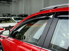 Дефлекторы окон (ветровики) для Toyota Rav 4 2013 -