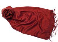 Бордовый шелковый шарф палантин винного цвета, 1450 руб.