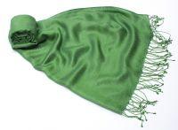 Изумрудный шелковый шарф (шелк + шерсть), 1800 руб.