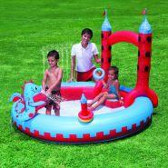 """Надувной интерактивный игровой центр-бассейн для детей """"Средневековый Замок"""" с разбрызгивателем"""