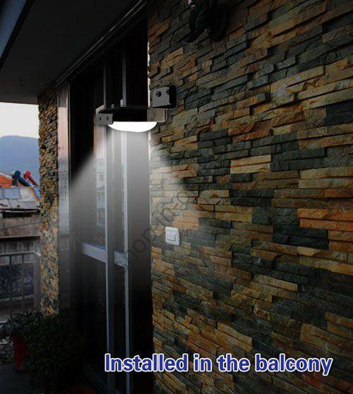 Автономное освещение с датчиком движения, светодиодный светильник на солнечной батарее.
