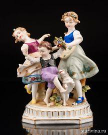 Танцующие детишки, E & A Muller, Германия, 1890-1927