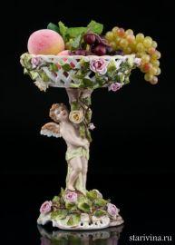 Вазочка-конфетница с ангелочком, Von Schierholz, Германия, 1907-27 гг
