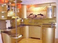 угловая матовая кухня