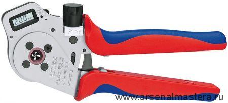 Инструмент для тетрагональной опрессовки контактов (ОБЖИМНИК ручной) KNIPEX 97 52 65 DG