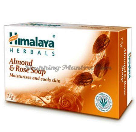 Увлажняющее мыло Миндаль&Роза  Хималая / Himalaya Moisturizing Almond&Rose Soap