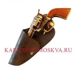 Пистолет ковбоя с кобурой