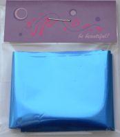 Фольга для дизайна ногтей, литья (переводная). Цвет: глянцевая синяя (Размер: 4см на 1 метр)