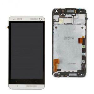 LCD (Дисплей) HTC One (в сборе с тачскрином) (в раме) (white) Оригинал