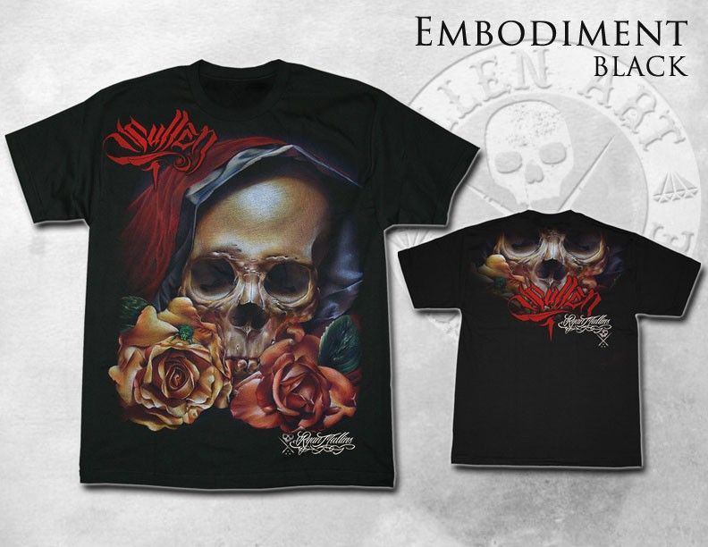 EXCLUSIVE Sullen Black Tee EMBODIMENT