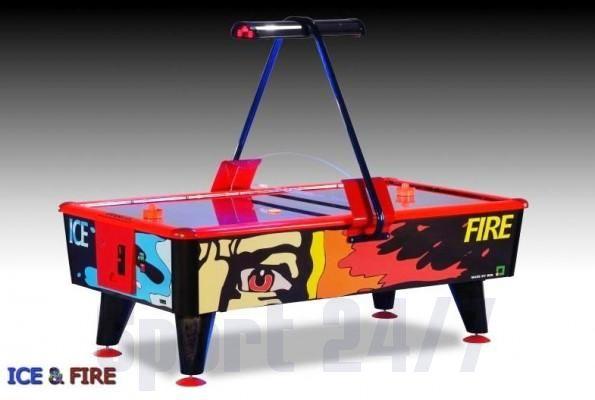 """Игровой стол - аэрохоккей """"Ice & Fire"""" 6 ф (жетоноприемник)"""