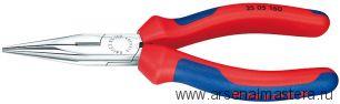 Круглогубцы с плоскими губками и режушими кромками KNIPEX 25 05 160