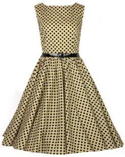 68e1b7af6ef Платье цвета мокко в черный горох