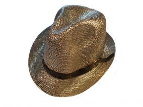 Шляпа белая  блестящия летная унисекс