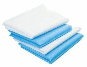 Простыни одноразовые 80Х200 см (голубые, белые)   20 шт.