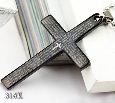 Черный крест с молитвой