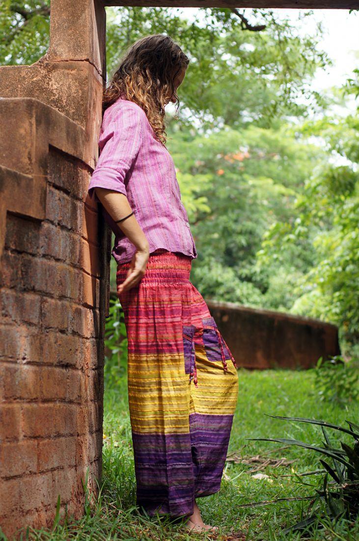 Полосатые шаровары разных цветов (отправка из Индии)