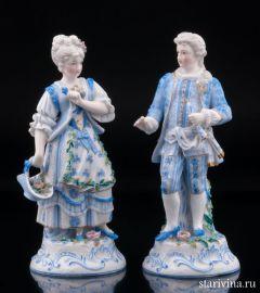 Пара в голубых костюмах, Ernst Bohne Sohne, Германия, кон. 19 в