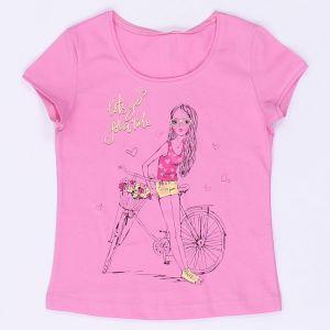 Блуза для девочки Девочка с велосипедом