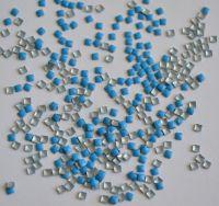 Украшение для ногтей - квадрат (50 штук в пакетике) Цвет: синий