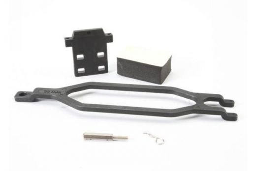 Hold down, battery/ hold down retainer/ battery post/ foam spacer/ angled body clip - TRA5827X