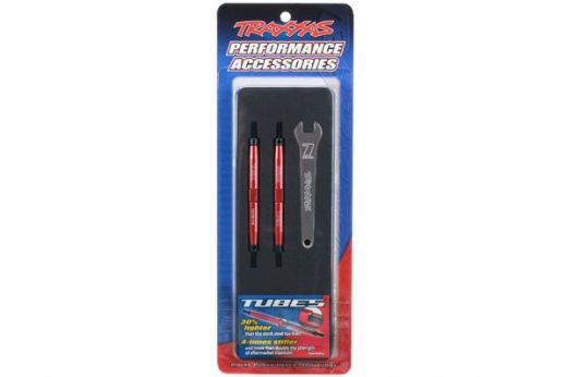 Toe links, Slayer Pro 4X4 (Tubes™ 7075-T6 aluminum, red) (88mm, fits front or rear) (2)/ rod ends, r - TRA5939R