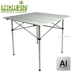 Стол складной Norfin GLOMMA-S NF алюминиевый 70x70 (Артикул:NF-20302)