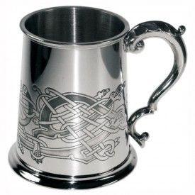 Танкард из Британского пьютера  - Кельтские узоры- Птицы  (объём. 1 пинта)